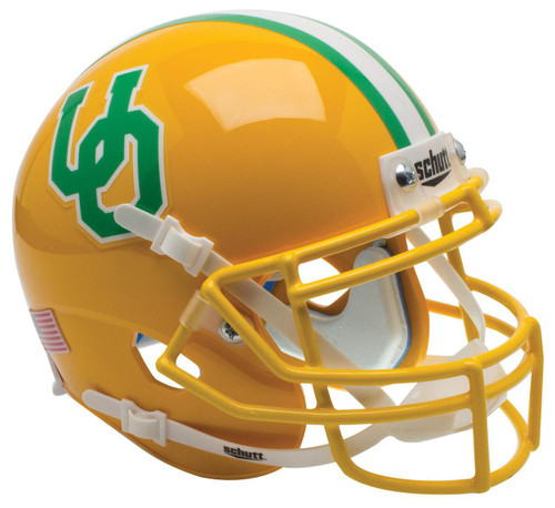 Oregon Ducks Alternate Gold Throwback Schutt Mini Authentic Football Helmet