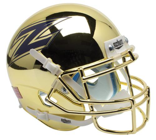 Akron Zips Alternate Chrome Schutt Mini Authentic Football Helmet