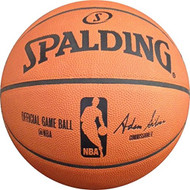 Official NBA Leather Game Basketball by Spalding