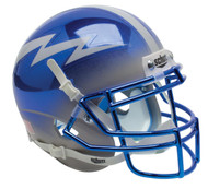 Air Force Falcons Alternate Blue Grey Chrome Schutt Mini Authentic Football Helmet
