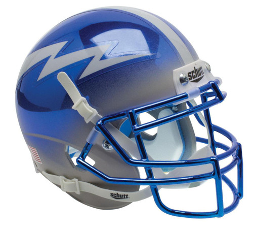 Air Force Falcons Alternate Blue Grey Chrome Schutt Mini Authentic Football Helmet