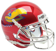 Kansas Jayhawks Alternate Red CHROME Schutt Mini Authentic Football Helmet