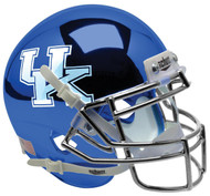 Kentucky Wildcats Alternate Blue Chrome Schutt Mini Authentic Football Helmet