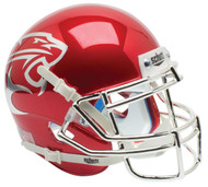 Houston Cougars Alternate Red CHROME Schutt Mini Authentic Football Helmet
