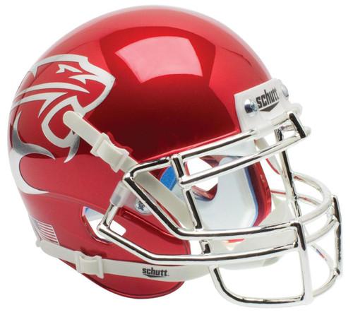 Houston Cougars Alternate Red CHROME Schutt Mini Authentic Football Helmet