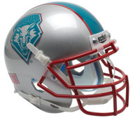 New Mexico Lobos Alternate Teal Schutt Mini Authentic Helmet
