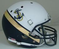 Navy Midshipmen Alternate White & Navy Anchor Schutt Full Size Replica XP Football Helmet