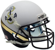 Navy Midshipmen Alternate White & Navy Anchor Schutt Mini Authentic Football Helmet