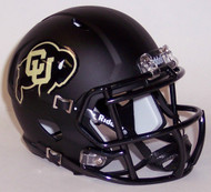 Colorado Buffaloes Alternate Matte Black Revolution SPEED Mini Helmet