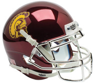 USC Trojans Alternate CHROME Schutt Mini Authentic Football Helmet