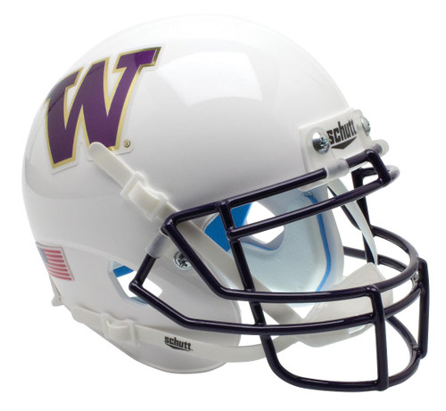 Washington Huskies Alternate WHITE Schutt Mini Authentic Football Helmet