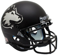 Northern Illinois Huskies Alternate Matte Black Schutt Mini Authentic Football Helmet