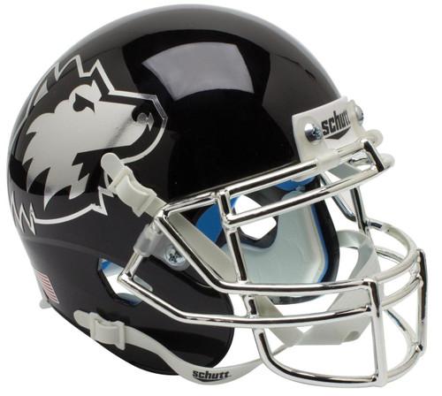 Northern Illinois Huskies Alternate Black Chrome Schutt Mini Authentic Football Helmet