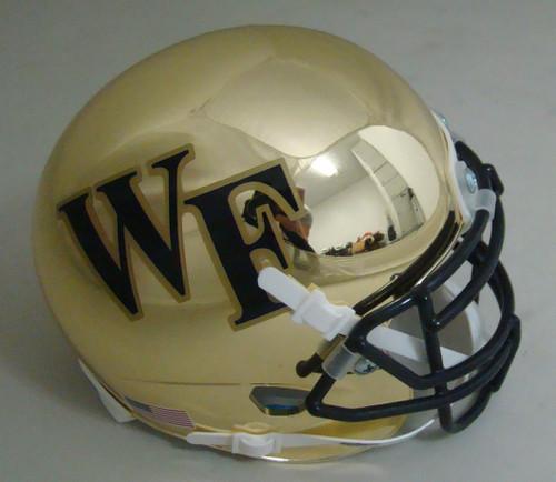 Wake Forest Demon Deacons Alternate Gold Chrome Schutt Mini Authentic Football Helmet