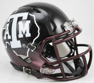 Texas A&M Aggies Alternate Black NCAA Riddell SPEED Mini Helmet