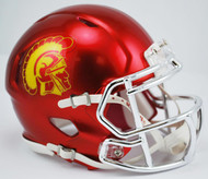 USC Trojans Alternate Chrome NCAA Riddell Speed Mini Helmet