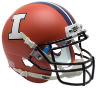 Illinois Fighting Illini Alternate Matte Orange Schutt Mini Authentic Helmet