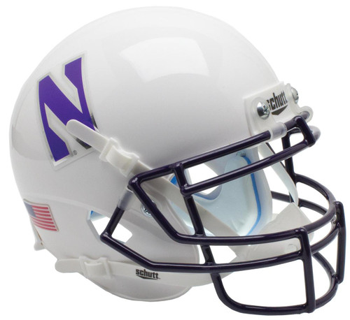 Northwestern Wildcats Alternate White Schutt Mini Authentic Football Helmet