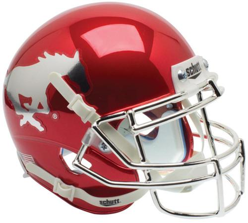 Southern Methodist SMU Mustangs Red Chrome Schutt Mini Authentic Football Helmet