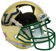 South Florida Bulls Alternate Gold Chrome Schutt Mini Authentic Helmet