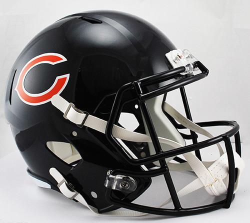 Silver Riddell NFL Chicago Bears Ice Alternate Full Size Speed Replica Small