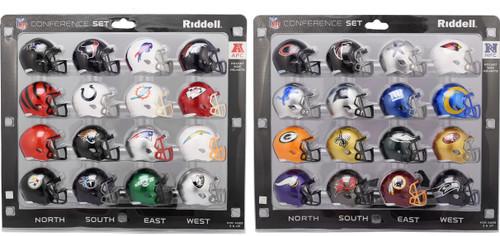All 32 NFL Pocket Pro Speed Revolution Mini Helmets Set by Riddell