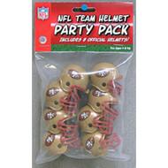 San Francisco 49ers Gumball Party Pack Helmets (Pack of 8)