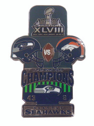 Super Bowl XLVIII (48) Commemorative Lapel Pin