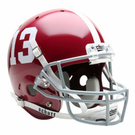 Alabama Crimson Tide #13 Schutt Full Size Replica Football Helmet