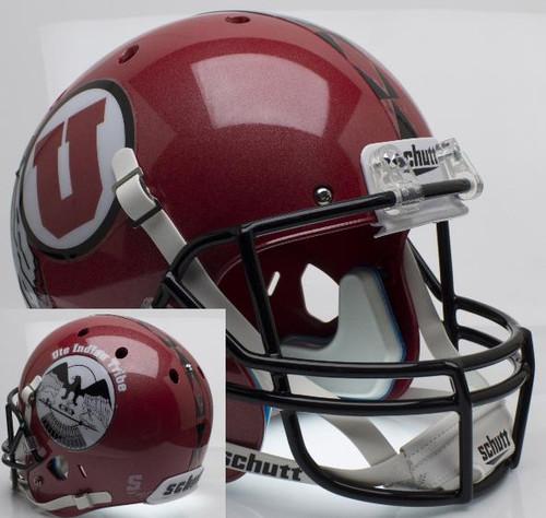 Utah Utes Alternate 8 PROUD Indian Tribe Schutt Full Size Replica XP Football Helmet