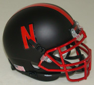 Nebraska Cornhuskers Alternate Chrome Alt 4 Schutt Mini Authentic Football Helmet