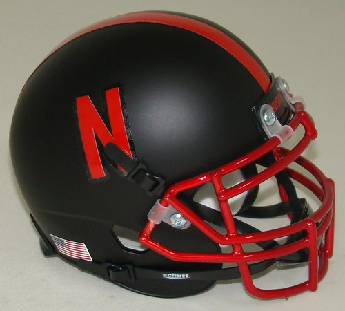 Nebraska Cornhuskers Alternate Chrome Alt 4 Schutt Mini Authentic Football Helmet