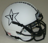 Vanderbilt Commodores White Alternate Anchor Schutt Mini Authentic Football Helmet