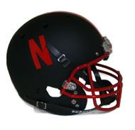 ebraska Cornhuskers Alternate Black Chrome Schutt Full Size Replica XP Football Helmet