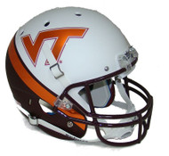 Virginia Tech Alternate WEDGE WHITE EFFECT Schutt Full Size Replica Helmet