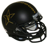 Vanderbilt Commodores Black Alternate Anchor Schutt Mini Authentic Helmet
