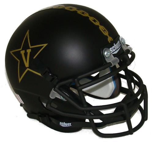 Vanderbilt Commodores Black Alternate Anchor Schutt Mini Authentic Football Helmet