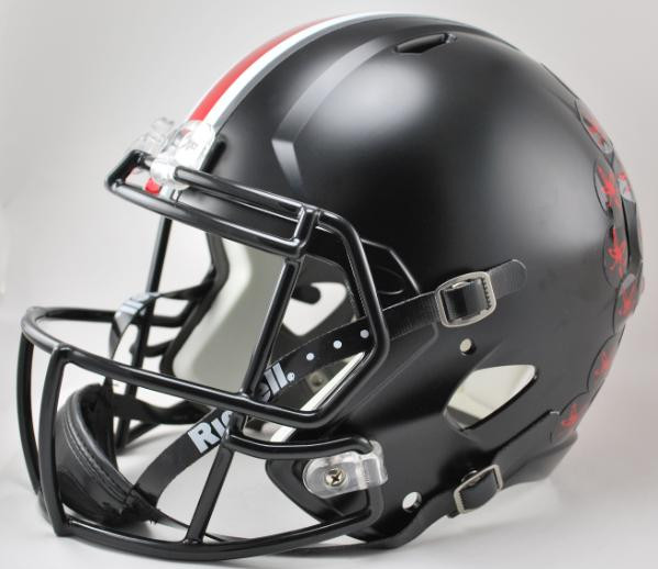 7891431b Ohio State Buckeyes Alternate BLACK SPEED Riddell Full Size Replica Helmet