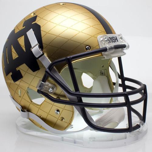 Notre Dame Fighting Irish Alternate 2014 HydroSkin Indianapolis Schutt Full Size Replica XP Football Helmet