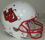 Utah Utes White Alternate 10 Schutt Full Size Replica Helmet