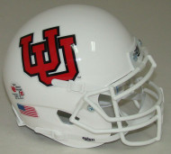 Utah Utes Alternate 10 White Schutt Mini Authentic Football Helmet