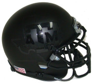 Texas A&M Aggies Alternate BLACKOUT Schutt Mini Authentic Helmet