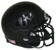 Texas A&M Aggies Alternate BLACKOUT Schutt Mini Authentic Helmet