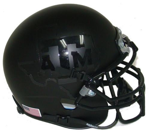 Texas A&M Aggies Alternate BLACKOUT Schutt Mini Authentic Football Helmet