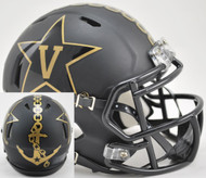 Vanderbilt Commodores Alternate Black with Anchor NCAA Revolution SPEED Mini Helmet
