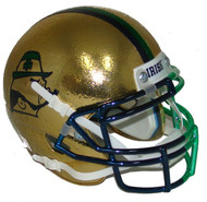 Notre Dame Fighting Irish Alternate 2015 Boston Textured with Shamrock Schutt Mini Authentic Football Helmet