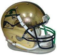 Notre Dame Fighting Irish Alternate 2015 HydroSkin Boston Shamrock Series Schutt Full Size Replica Helmet