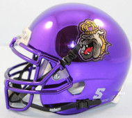 James Madison Dukes Alternate Purple Chrome Schutt Mini Authentic Helmet
