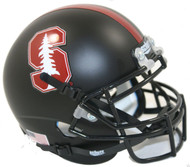 Stanford Cardinal 2015 Alternate Black Schutt Mini Authentic Helmet