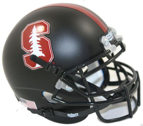Stanford Cardinal 2015 Alternate Black Schutt Mini Authentic Football Helmet
